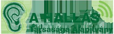 """""""A Hallás Társasága"""" Alapítvány Logo"""